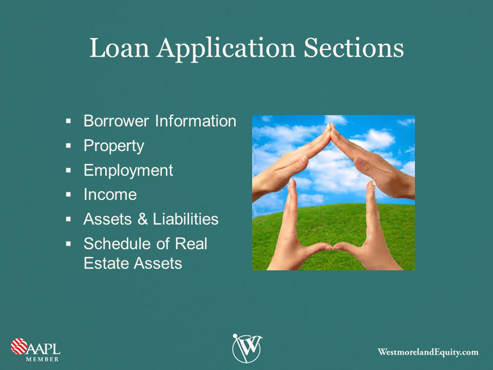 Loan Application Sections