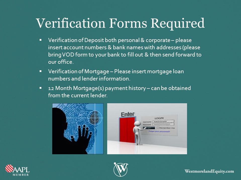 Verification Forms Required