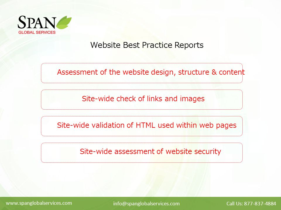 Website Best Practice Reports
