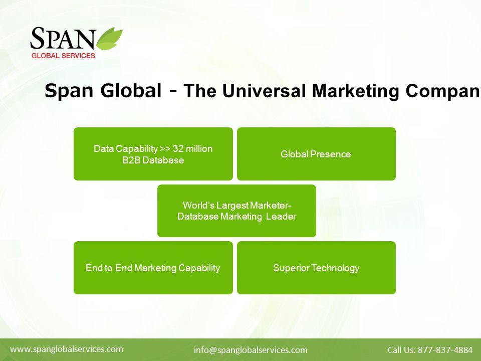 Span Global - The Universal Marketing Company