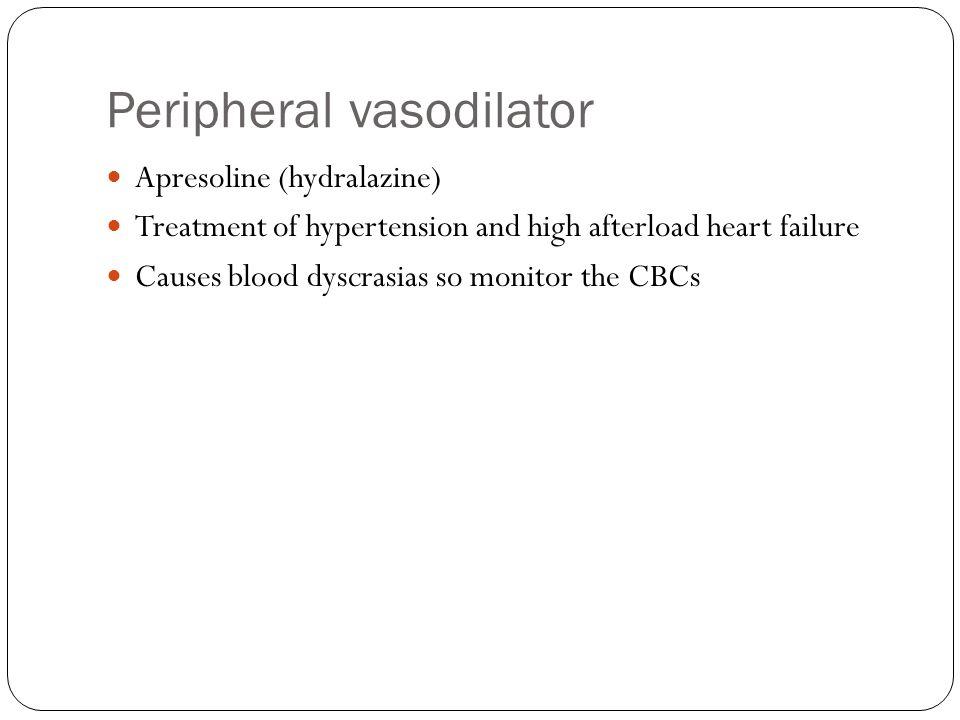Peripheral vasodilator