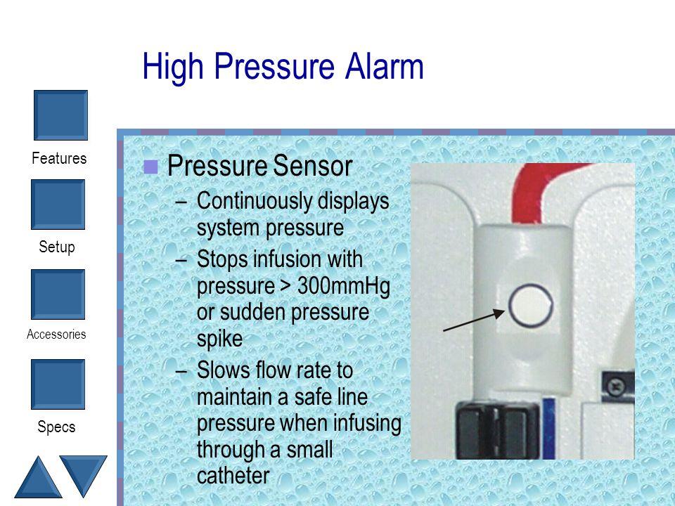 High Pressure Alarm Pressure Sensor