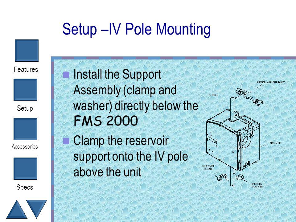 Setup –IV Pole Mounting