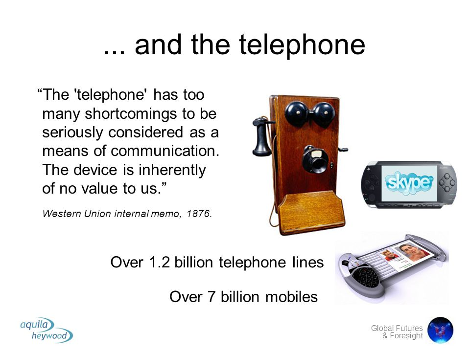 ... and the telephone