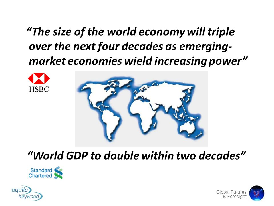 The size of the world economy will triple