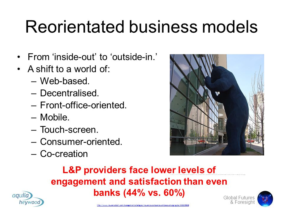 Reorientated business models