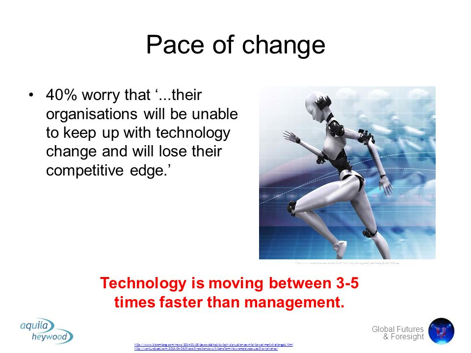Technology is moving between 3-5 times faster than management.