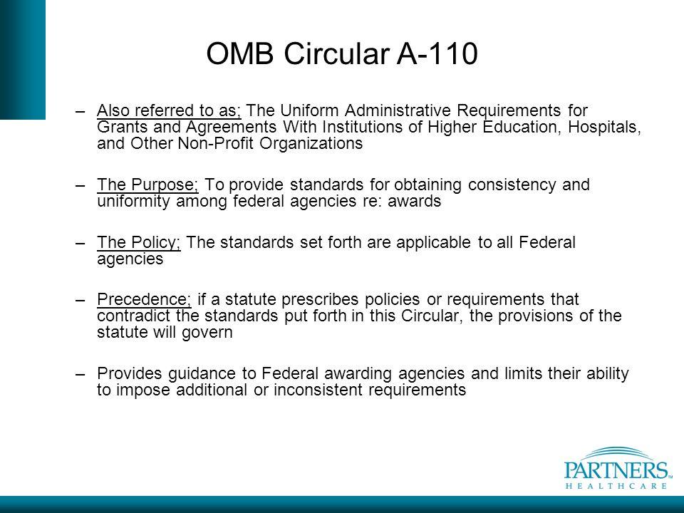 OMB Circular A-110