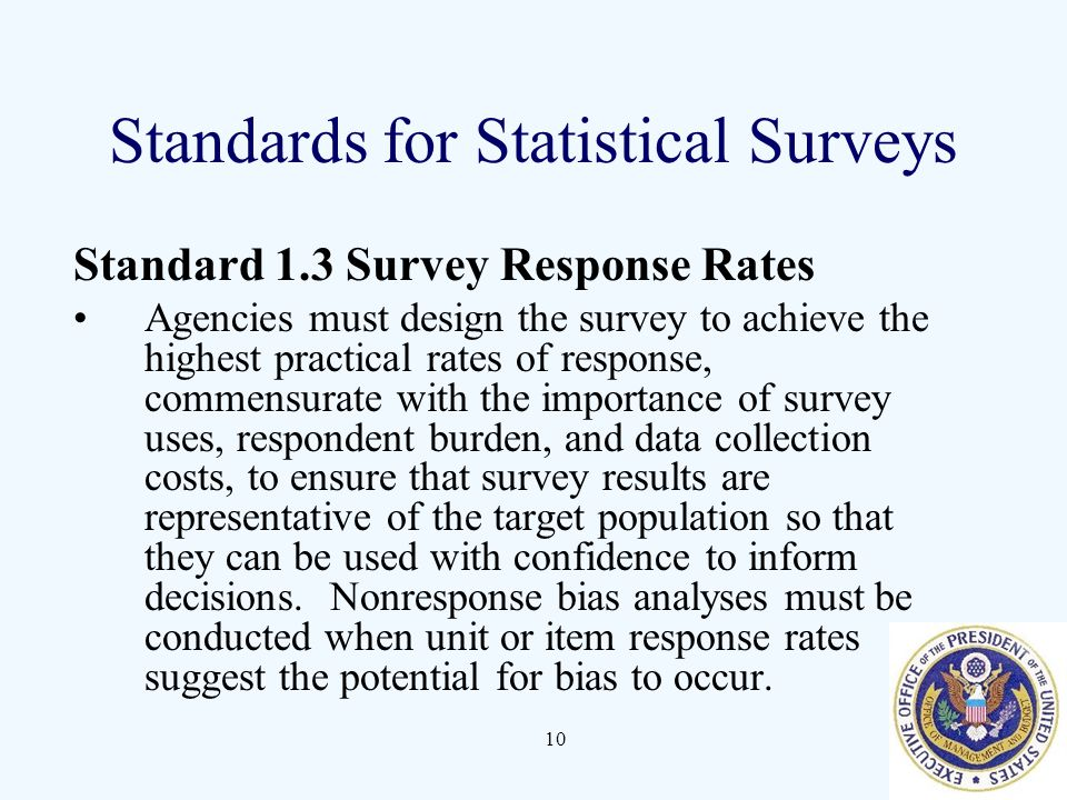 Standards for Statistical Surveys