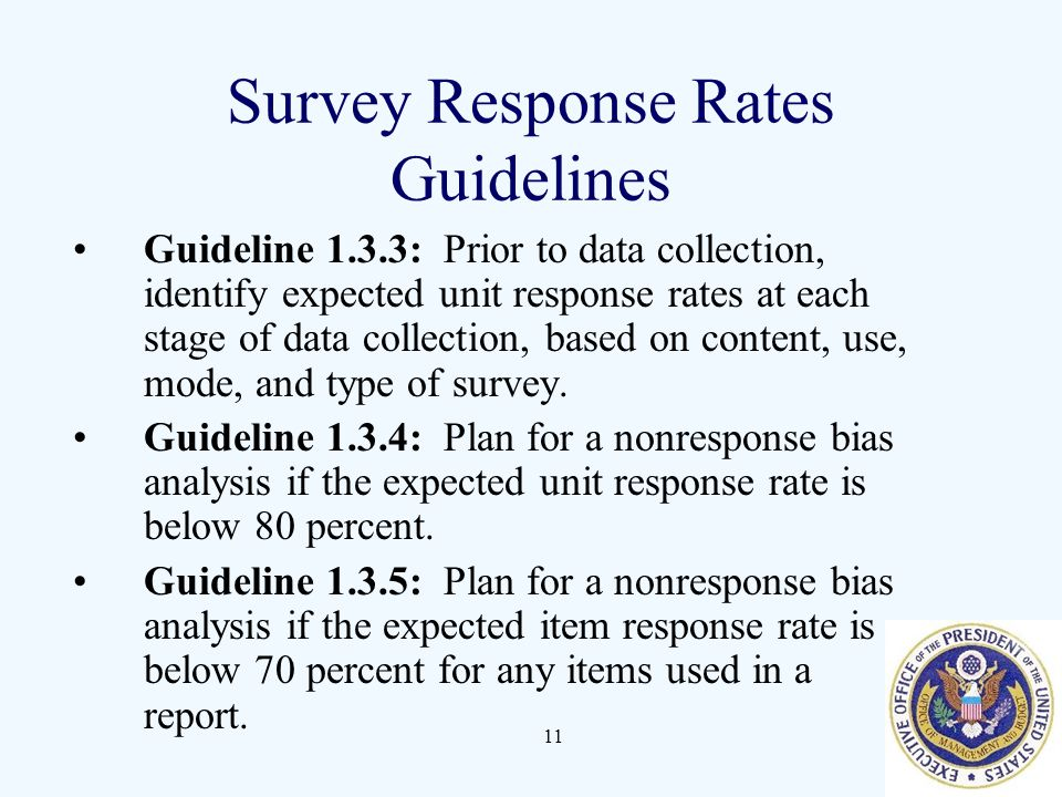Survey Response Rates Guidelines