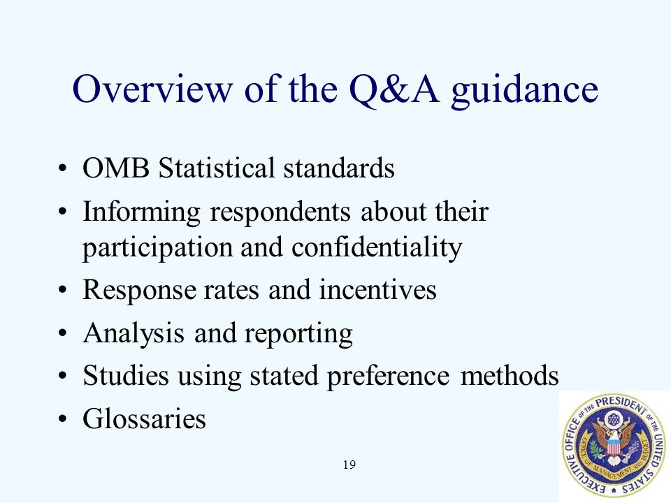 Overview of the Q&A guidance