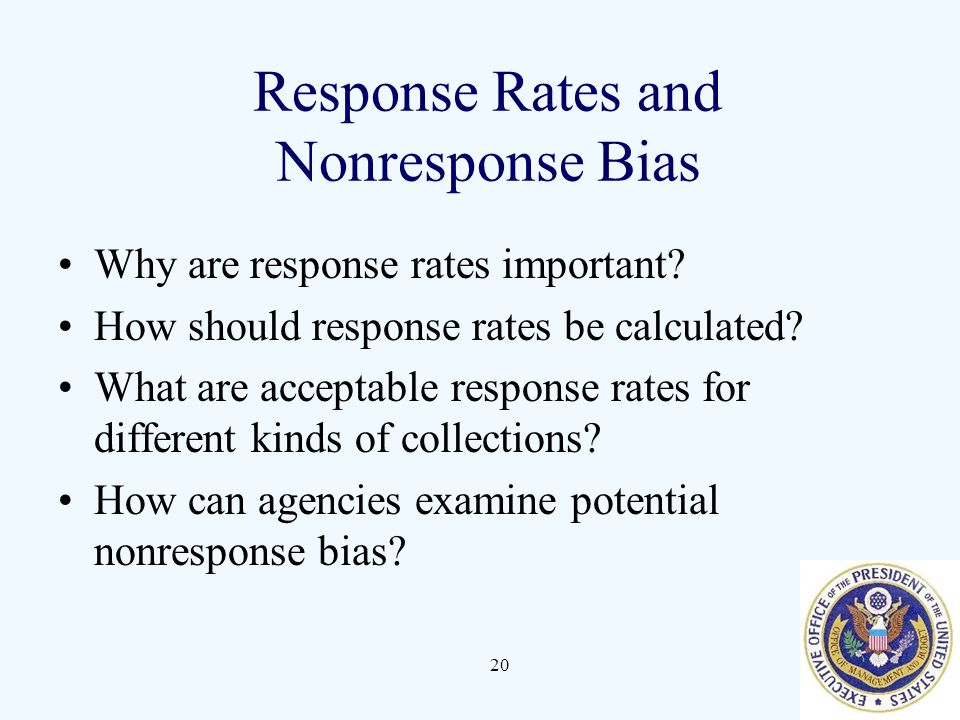 Response Rates and Nonresponse Bias