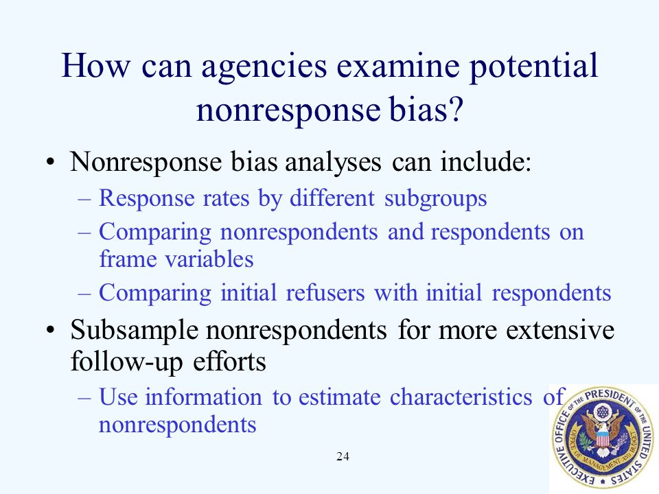 How can agencies examine potential nonresponse bias