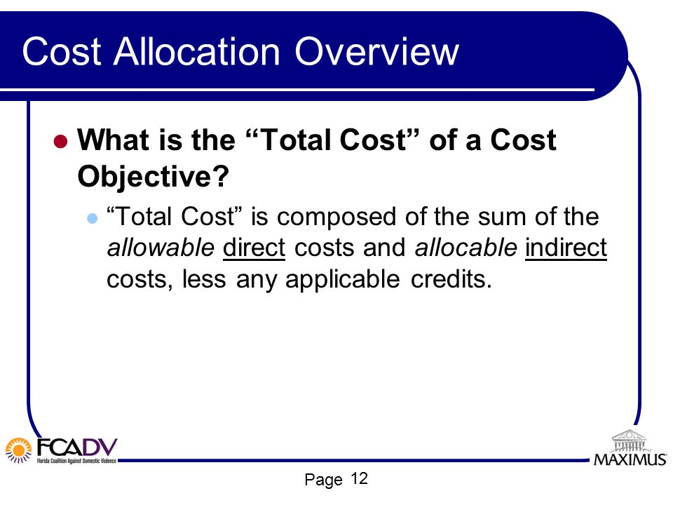 Cost Allocation Overview
