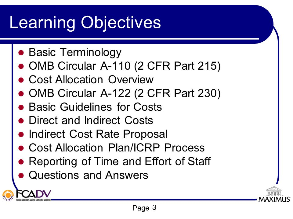 Learning Objectives Basic Terminology