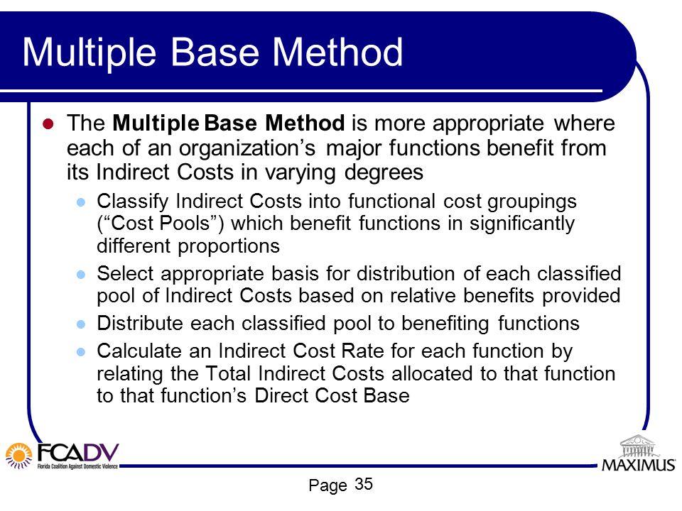 Multiple Base Method