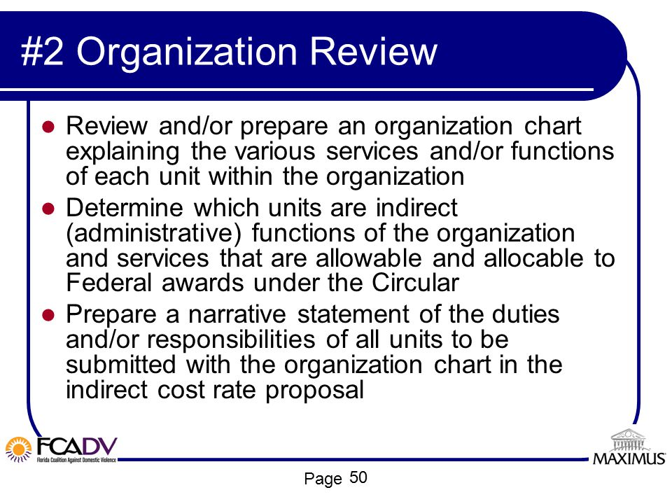 #2 Organization Review