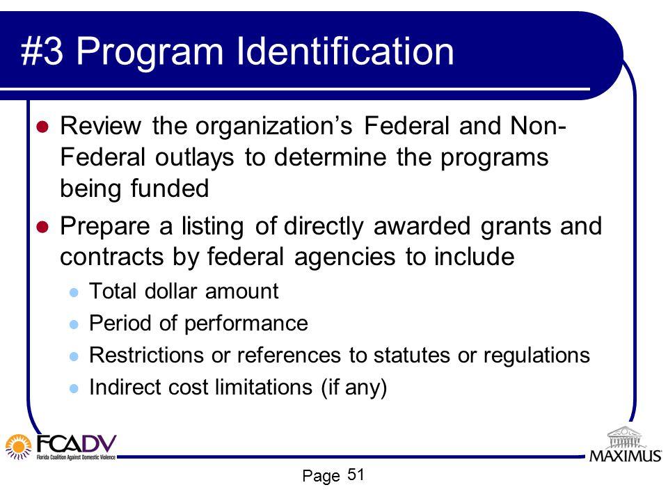 #3 Program Identification