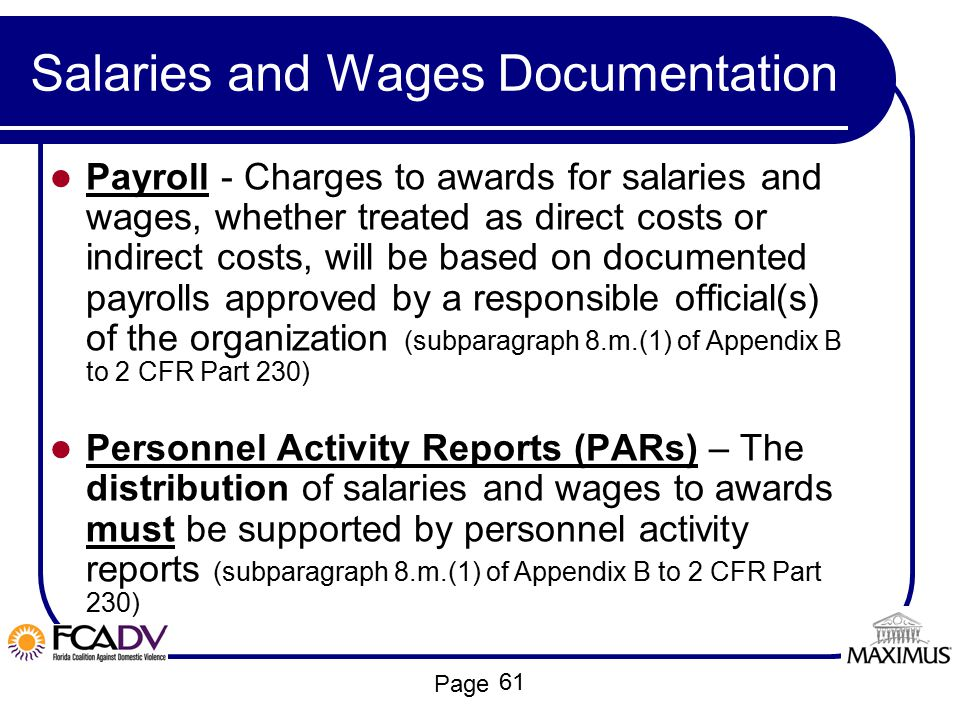 Salaries and Wages Documentation