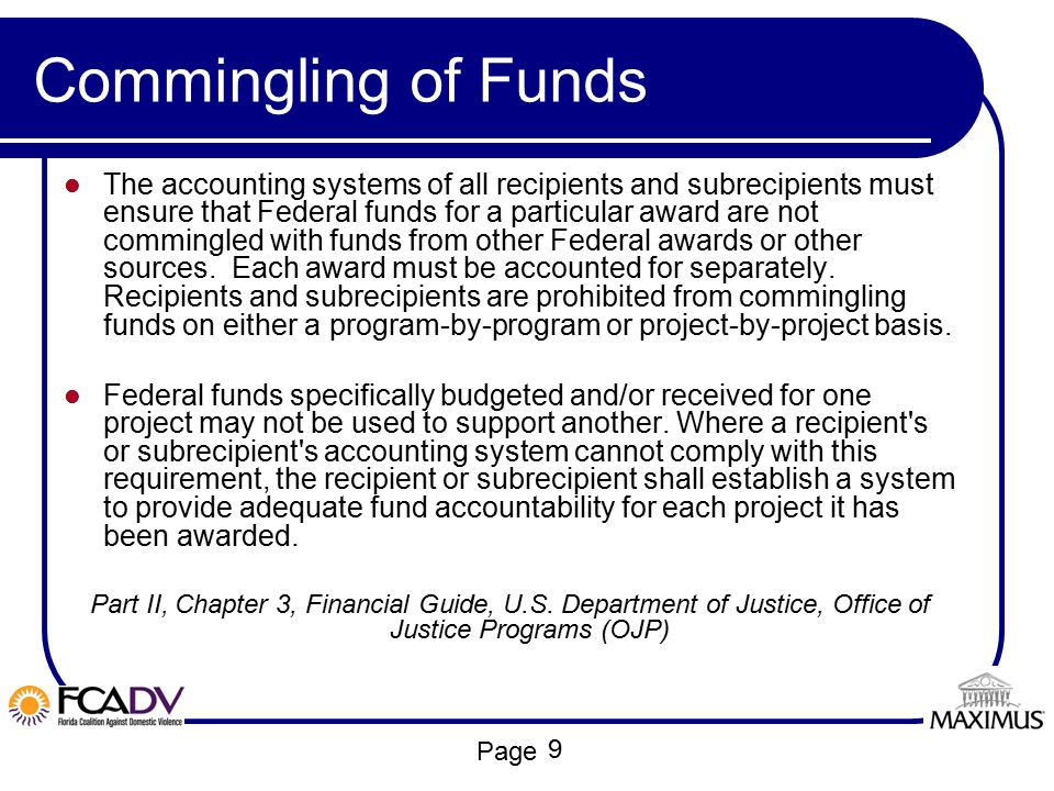 Commingling of Funds
