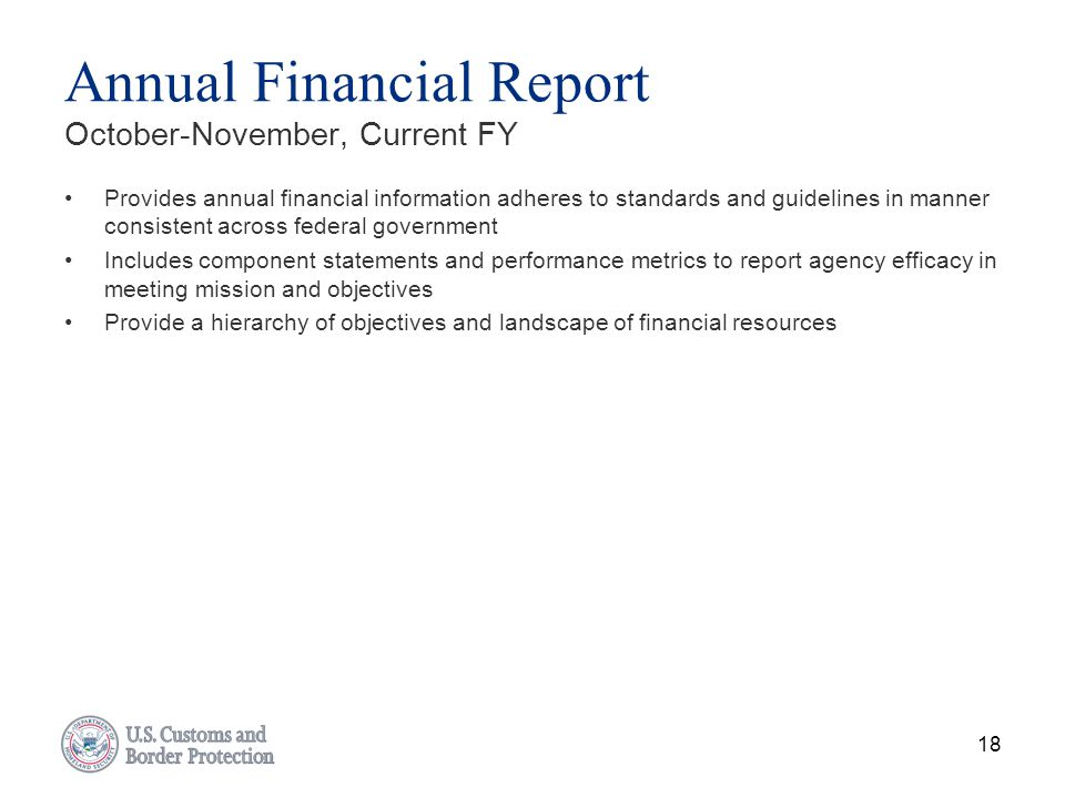 Annual Financial Report October-November, Current FY