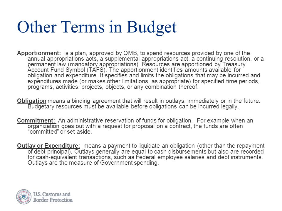 Other Terms in Budget