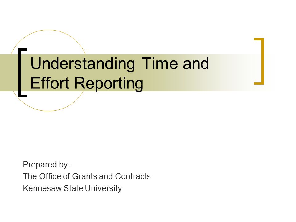 Understanding Time and Effort Reporting
