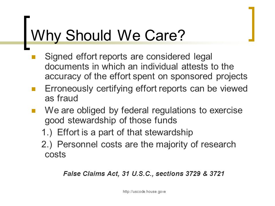 False Claims Act, 31 U.S.C., sections 3729 & 3721