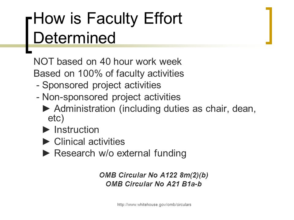 How is Faculty Effort Determined