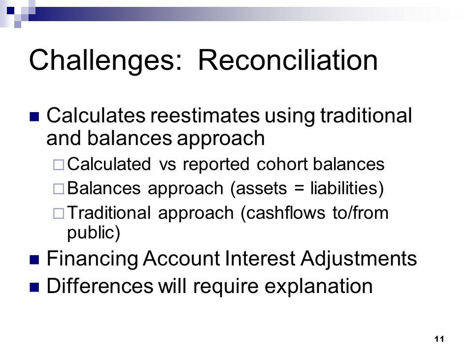 Challenges: Reconciliation