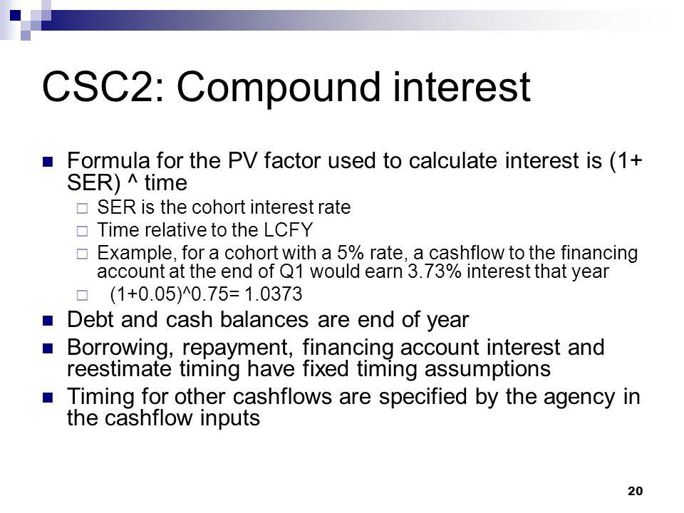 CSC2: Compound interest