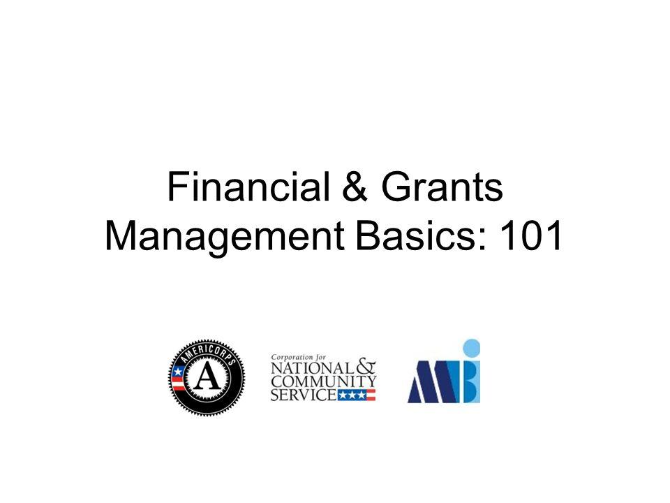 Financial & Grants Management Basics: 101