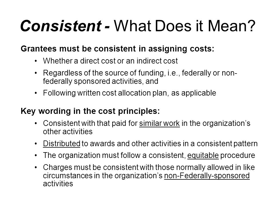 Consistent - What Does it Mean