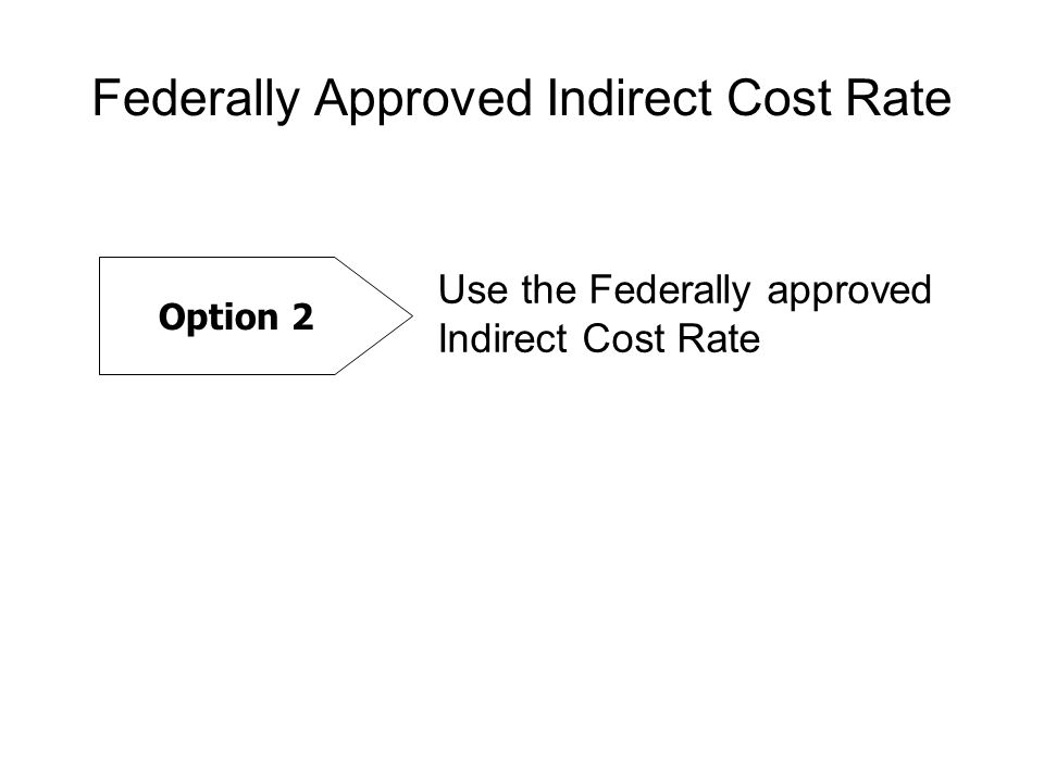 Federally Approved Indirect Cost Rate