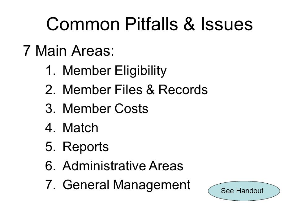 Common Pitfalls & Issues