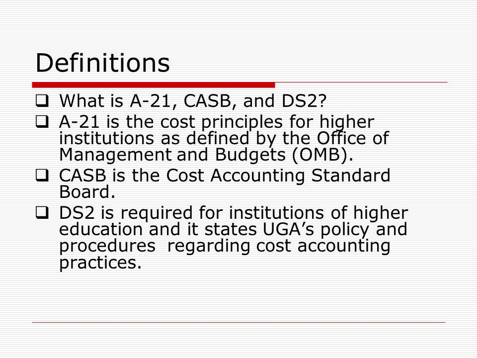 Definitions What is A-21, CASB, and DS2