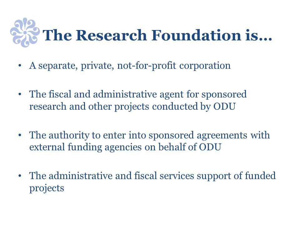 The Research Foundation is…