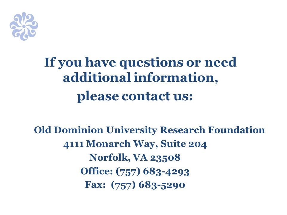 Old Dominion University Research Foundation