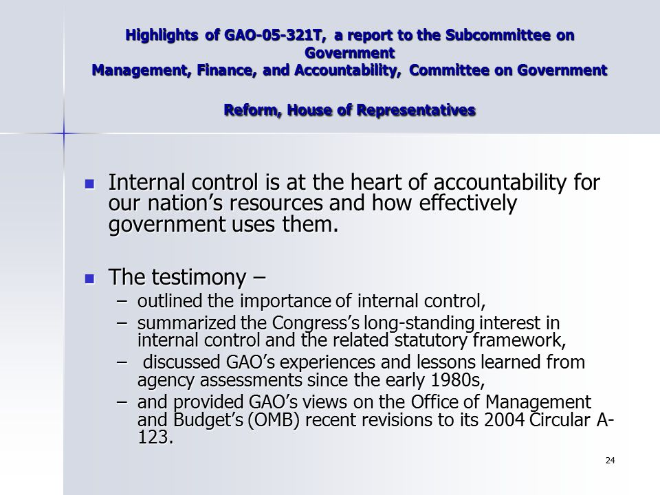 Highlights of GAO-05-321T, a report to the Subcommittee on Government Management, Finance, and Accountability, Committee on Government Reform, House of Representatives