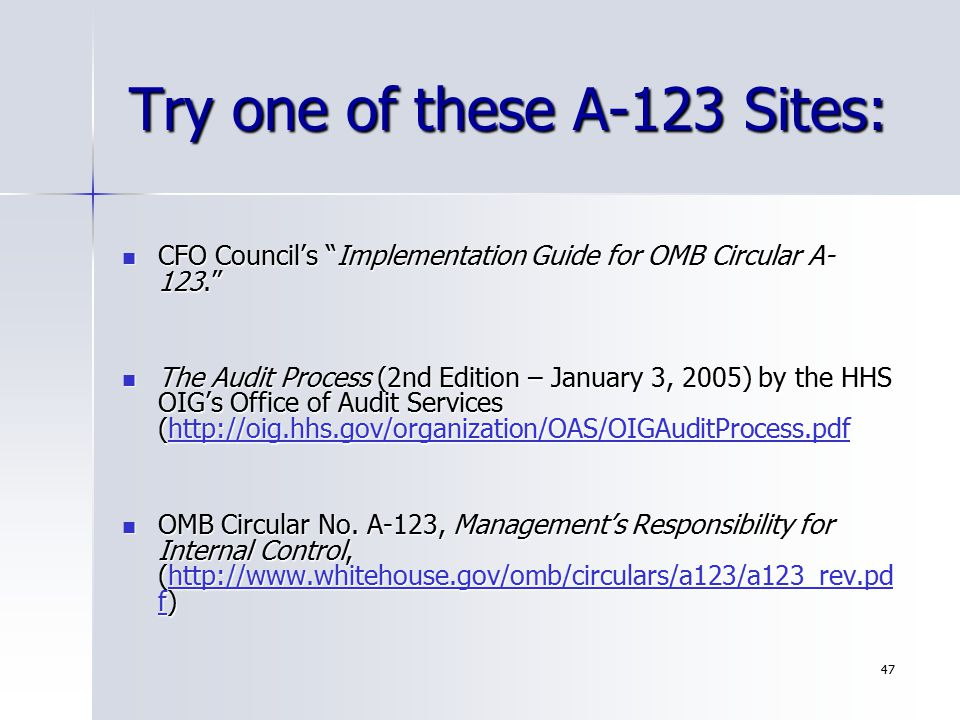 Try one of these A-123 Sites: