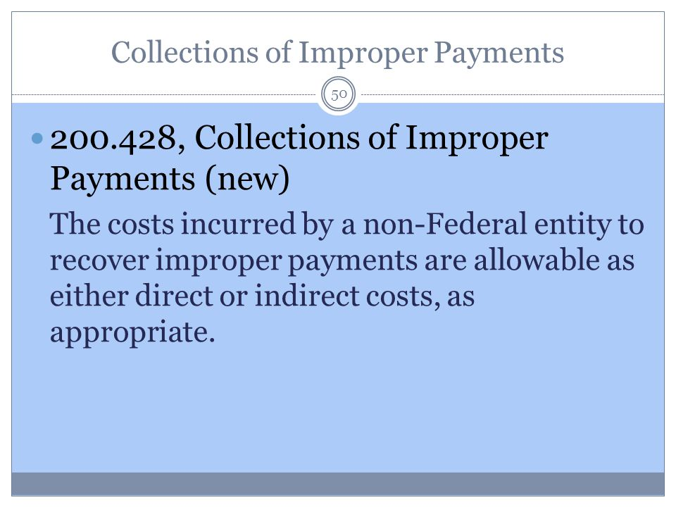 Collections of Improper Payments