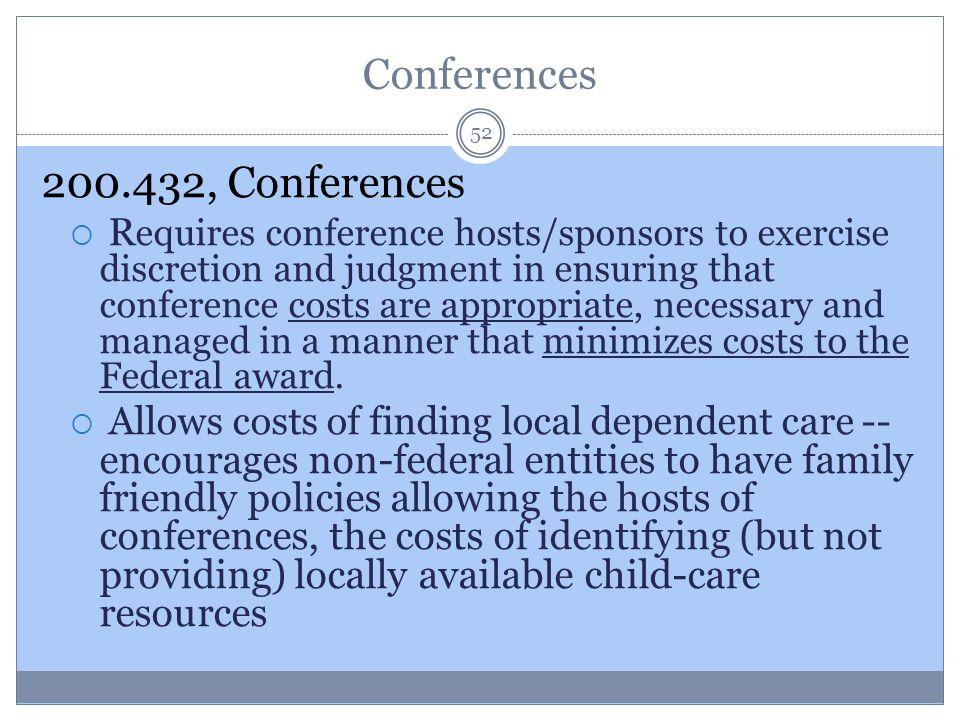 200.432, Conferences Conferences