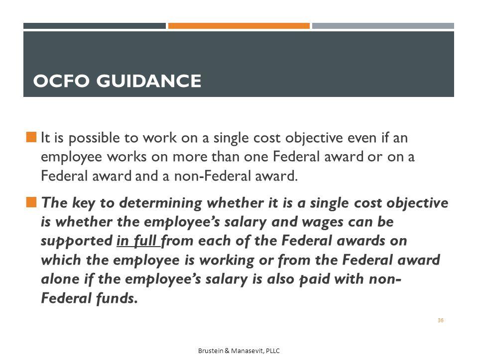 OCFO Guidance