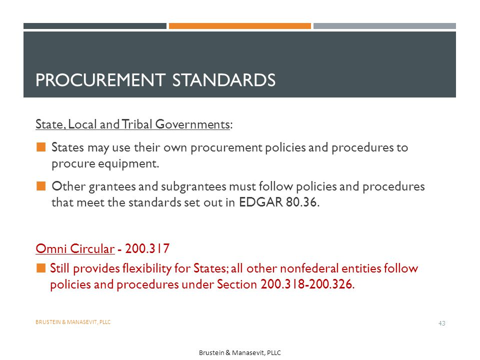 Procurement Standards