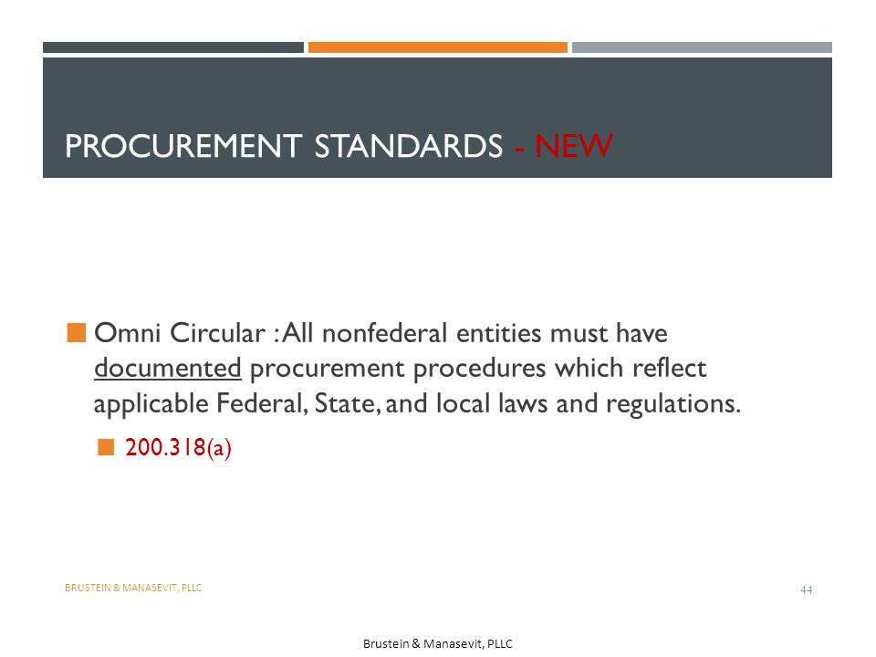 Procurement Standards - NEW