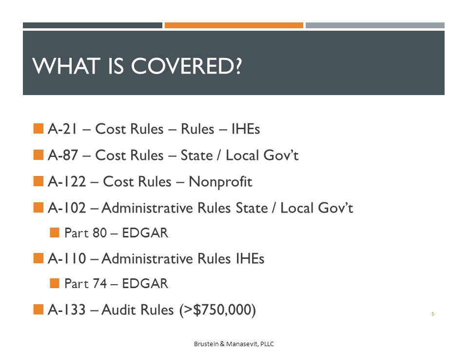 What is Covered A-21 – Cost Rules – Rules – IHEs