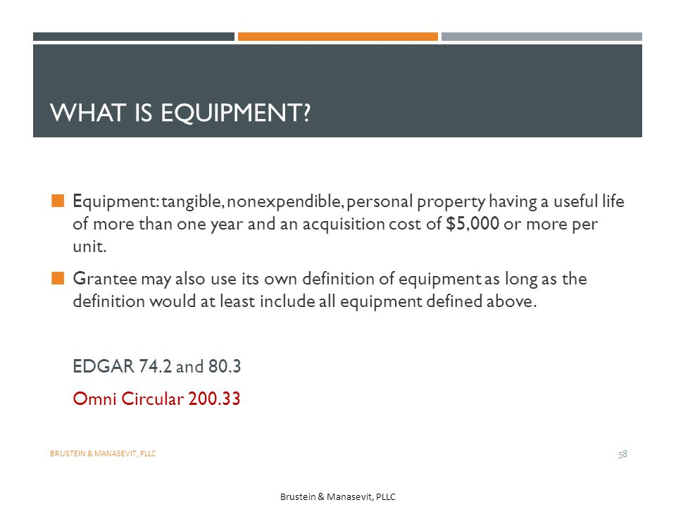 What is equipment