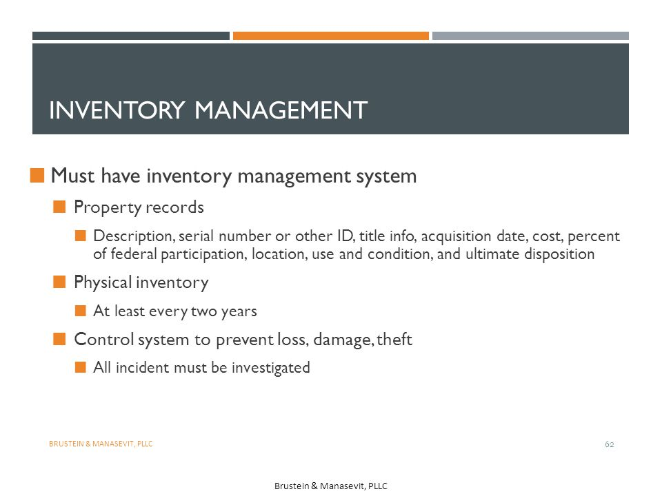 Inventory Management Must have inventory management system