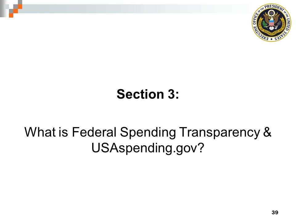 What is Federal Spending Transparency & USAspending.gov