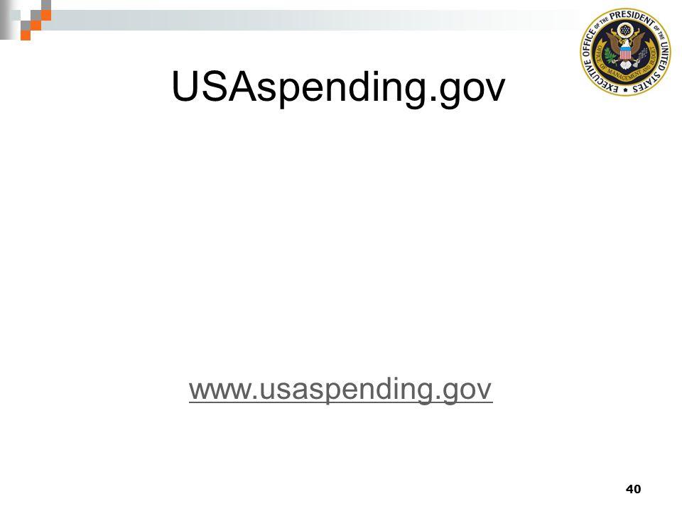 USAspending.gov www.usaspending.gov